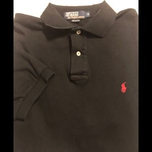 Polo by Ralph Lauren Black SS Polo Shirt Size M